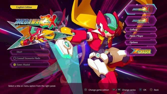 Mega Man Zero e ZX Legacy save point