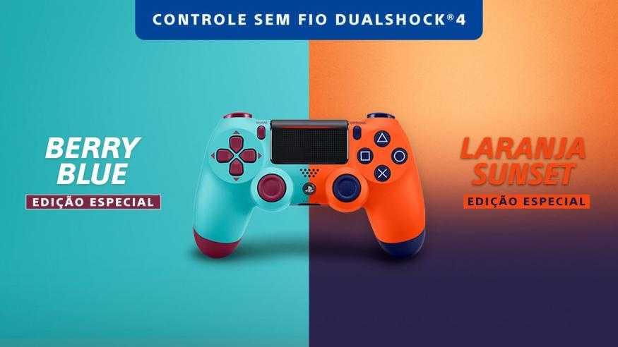 DualShock 4 - Novas Cores no Brasil