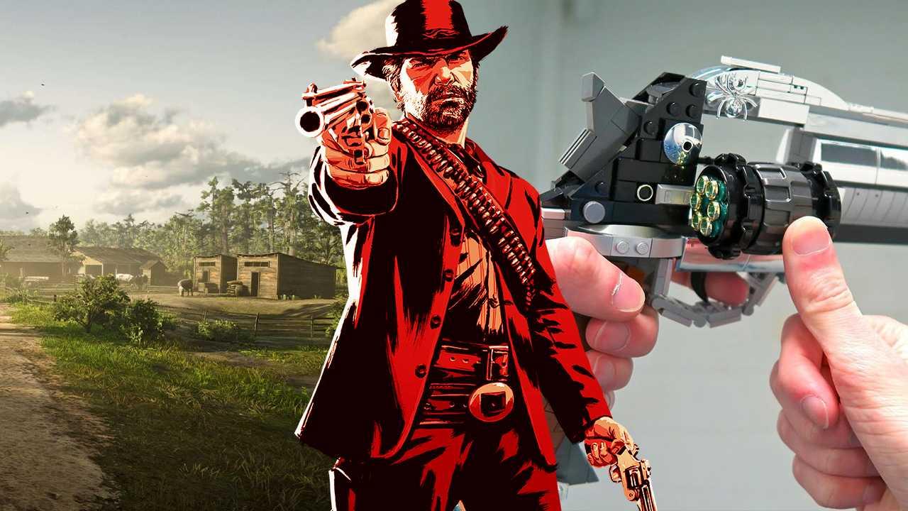 Jogador faz arma de Red Dead Online em LEGO totalmente funcional